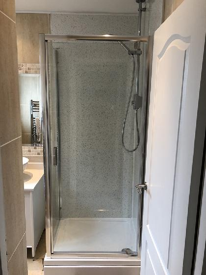 New shower enclosure and Aqualisa shower installed in Enfield